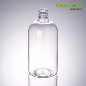 Thân chai sữa rửa mặt thân tròn