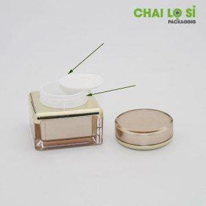 Cấu tạo hũ Cream Gold acrylic 15G