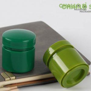 Cặp hũ nhựa đựng mỹ phẩm cream xanh organic chất lượng