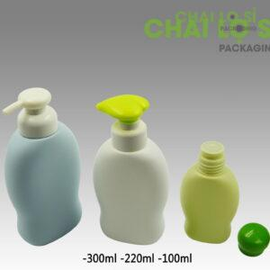 Chai dầu gội/sữa tắm bầu dục thắt eo cao cấp