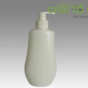 Chai dầu gội/sữa tắm cách điệu nắp trắng