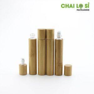 Chai nước hoa mini gỗ thiên nhiên