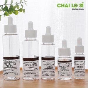 Chai serum được làm bằng nhựa pet