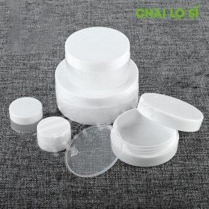 Hũ nhựa trắng dẹp