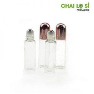 Chai nước hoa mini thủy tinh trong suốt nắp nhôm tròn