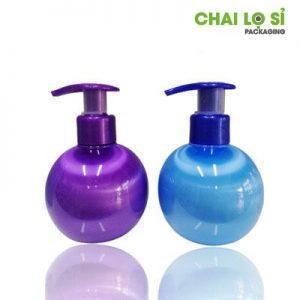 Chai nước rửa tay thân tròn màu xanh/tím