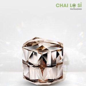 hũ đựng kem cách điệu kim cương