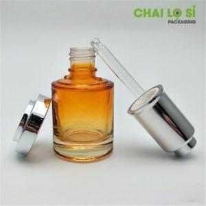 chai serum thủy tinh tru tròn