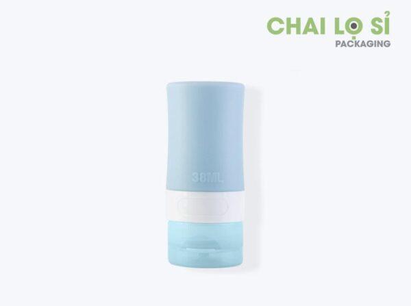 chai-my-pham-silicone-mau-xanh