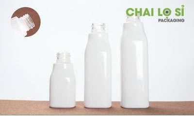 Bộ chai thủy tinh màu trắng đựng kem dưỡng da