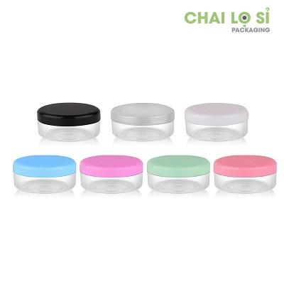Hũ nhựa tròn nắp nhiều màu 10g