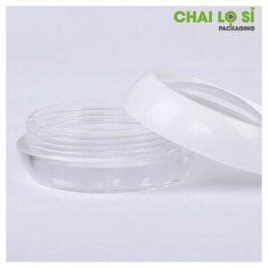Hũ nhựa tròn trong suốt đựng mỹ phẩm 50g